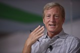 Tom Steyer to spend more on anti-Trump ads, remains undecided about running for office