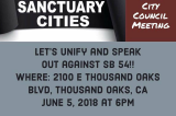 Speak out against Sanctuary Cities/State- Tonight!