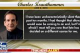 Charles Krauthammer Says He Has Just Weeks to Live Due to Return of Cancer