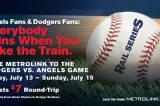 Metrolink Special Train Service for Angels vs. Dodgers in L.A.