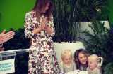 Melania Unveils Healing Garden At Children's Hospital In Beautiful Red And Black Floral Dress