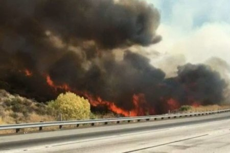 Evacuations Underway as Brush Fire Grows and Shuts Down 14 Freeway in Santa Clarita